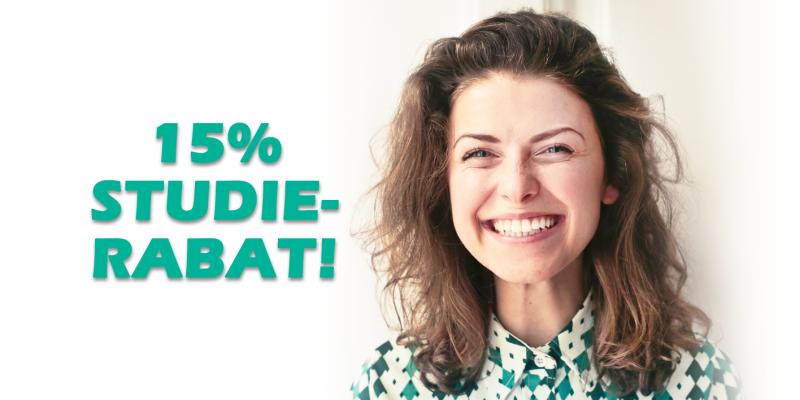 15% studierabat i Aalestrup